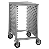 Cres Cor 280-1818A 18 Pan End Load Half Height Aluminum Bun / Sheet Pan Rack / Mobile Work Station with Corrugated Sidewalls and Stainless Steel Top - Assembled