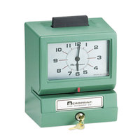 Acroprint 011070400 Model 125 Analog Manual Print Time Clock with Date, 0-12 Hours, and Minutes