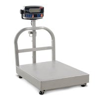 Tor Rey EQB-100/200-W 200 lb. Waterproof Digital Receiving Bench Scale with Tower Display, Legal for Trade