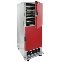 Cres Cor H-135-SUA-11-R Red Insulated Full Height Holding Cabinet with Red Solid Dutch Doors - 120V, 1500W