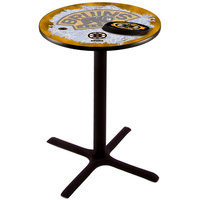 Holland Bar Stool L211B3628BOSBRU-D2 28 inch Round Boston Bruins Pub Table