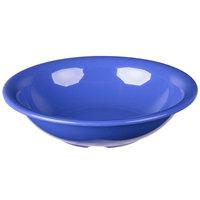 Carlisle 3303214 Sierrus 16 oz. 7 1/2 inch Ocean Blue Rimmed Melamine Bowl - 24/Case