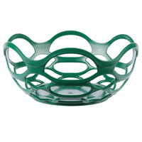 HS Inc. HS1072 7 3/4 inch Green Chili Open Weave Basket - 24/Case