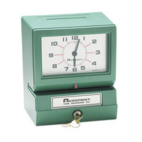 Acroprint 012070400 Model 150 Analog Automatic Print Time Clock with Date, 0-12 Hours, and Minutes