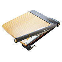 Westcott 15107 TrimAir 25 inch x 14 inch 30 Sheet Titanium Guillotine Paper Trimmer with Wood Base