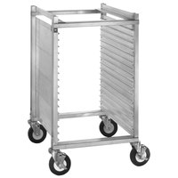 Cres Cor 282-1815 15 Pan End Load Half Height Aluminum Bun / Sheet Pan Rack / Mobile Work Station with Extruded Sidewalls - Assembled