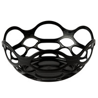HS Inc. HS1072 7 3/4 inch Charcoal Open Weave Basket - 24/Case