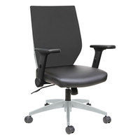 Alera ALEEBT4205 EB-T Mid-Back Black / Gray Mesh Office Chair with Adjustable Arms and Black Swivel Nylon Base