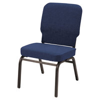 Alera ALEBT6620 Oversized Stackable Chair with Navy Fabric Back and Seat - 2/Case