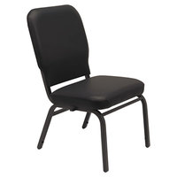 Alera ALEBT6616 Oversized Stackable Chair with Black Antimicrobial Vinyl Back and Seat - 2/Case