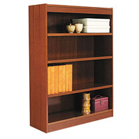 Alera ALEBCS44836MC 36 inch x 48 inch Medium Cherry Wood Veneer 4-Shelf Square Corner Bookcase