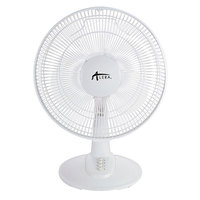 Alera ALEFAN122 12 inch White Three Speed Oscillating Plastic Desk Fan