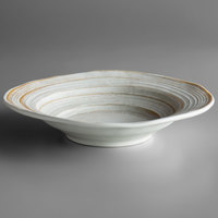 Elite Global Solutions DB11ST-OWD Della Terra Melamine Stoneware 22 oz. Off White Irregular Round Bowl - 6/Case