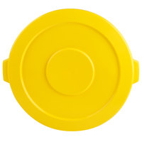 Continental 4445YW Huskee 44 Gallon Yellow Trash Can Lid