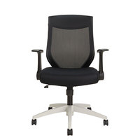 Alera ALEEBK4207 EB-K Mid-Back Black Mesh Office Chair with Adjustable Arms and Cool Gray Swivel Nylon Base