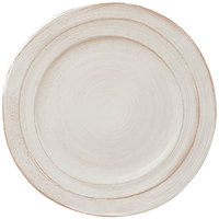Elite Global Solutions D750ST-OWD Della Terra Melamine Stoneware 7 1/2 inch Off White Irregular Round Plate - 6/Case