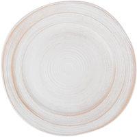Elite Global Solutions D1134ST-OWD Della Terra Melamine Stoneware 11 3/4 inch Off White Irregular Round Plate - 6/Case