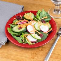 Carlisle 3301605 Sierrus 7 1/2 inch Red Wide Rim Melamine Salad Plate - 48/Case