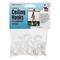 Adams ADM1900993241 Clear Plastic Ceiling Hook - 6/Pack