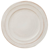 Elite Global Solutions D101ST-OWD Della Terra Melamine Stoneware 10 inch Off White Irregular Round Plate - 6/Case