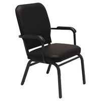 Alera ALEBT6516 Oversized Stackable Arm Chair with Black Antimicrobial Vinyl Back and Seat - 2/Case