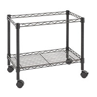 Alera ALEFW601424BL 14 inch x 24 inch Black Single-Tier Rolling File Cart
