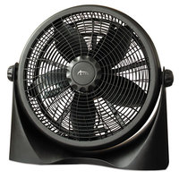 Alera ALEFAN163 16 inch Black Three Speed Super-Circulation Plastic Desk Fan
