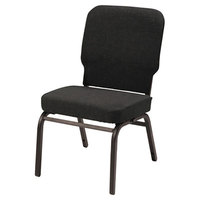 Alera ALEBT6610 Oversized Stackable Chair with Black Fabric Back and Seat - 2/Case