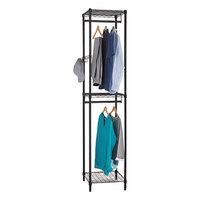 Alera ALEGR351818BL 18 inch x 18 inch x 81 3/4 inch Black Wire Shelving Garment Tower