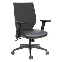 Alera ALEEBT4215 EB-T Mid-Back Black Mesh Office Chair with Adjustable Arms and Black Swivel Nylon Base