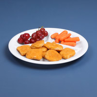Elite Global Solutions DC103 10 inch White Round 3-Compartment Melamine Plate - 6/Case