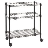Alera ALEFW601426BL 14 inch x 26 inch Black Two-Tier Rolling File Cart