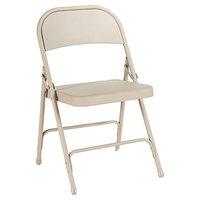 Alera ALEFC94T Tan Steel Folding Chair - 4/Case