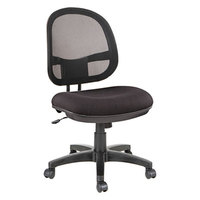 Alera ALEIN4814 Interval Black Mesh / Fabric Office Chair with Black Swivel Nylon Base
