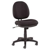 Alera ALEIN4811 Interval Black Fabric Office Chair with Black Swivel Nylon Base