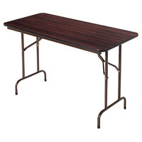 Alera ALEFT727230WA 29 3/4 inch x 72 inch Walnut Melamine Top Folding Table