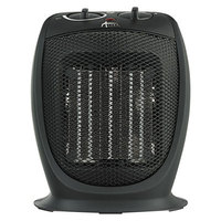 Alera ALEHECH09 7 1/8 inch x 5 7/8 inch x 8 3/4 inch Black Ceramic Heater - 1500W