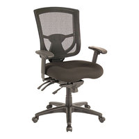 Alera ALEEX4214 EX Series Black Mid-Back Multifunction Mesh Office Chair with Adjustable Arms and Black Swivel Nylon Base