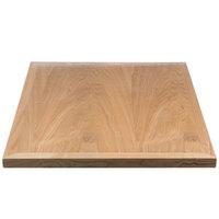 ... BFM Seating VN2430NT 24 Inch X 30 Inch Natural Veneer Wood Indoor Table  Top