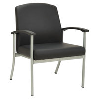 Alera ALEMR2316 MetaLounge Black Antimicrobial Arm Chair