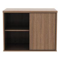 Alera ALELS593020WA Open Office Walnut Low Storage Cabinet / Credenza - 29 1/2 inch x 19 1/8 inch x 22 7/8 inch