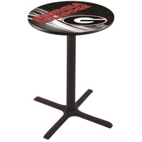 Holland Bar Stool L211B3628GA-G-D2 28 inch Round University of Georgia Pub Table