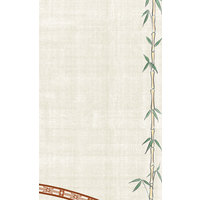 8 1/2 inch x 14 inch Menu Paper Asian Themed Bamboo Design Right Insert - 100/Pack