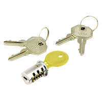 Alera ALEKCSDLF Key-Alike Brushed Chrome Metal Lateral File and Steel Desk Lock Core Set