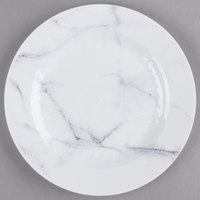 WNA Comet EMP75W6QRY Textures Quarry Collection 7 1/2 inch White Marble Motif Plastic Plate - 10/Pack