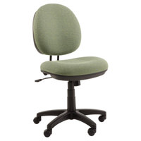 Alera ALEIN4871 Interval Parrot Green Fabric Office Chair with Black Swivel Nylon Base