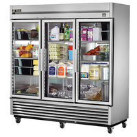 True TS-72G-HC~FGD01 78 1/8 inch Glass Door Reach-In Refrigerator