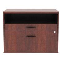 Alera ALELS583020MC Open Office Medium Cherry Low File Cabinet / Credenza - 29 1/2 inch x 19 1/8 inch x 22 7/8 inch
