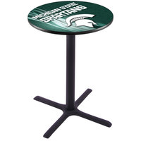Holland Bar Stool L211B3628MICHST-D2 28 inch Round Michigan State University Pub Table