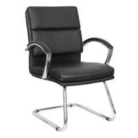 Alera ALENR4319 Neratoli Black Leather Arm Chair